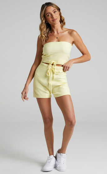 Venus Two Piece set in Pastel Yellow