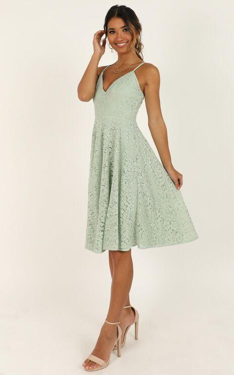 Far Beyond Dress In Sage Lace