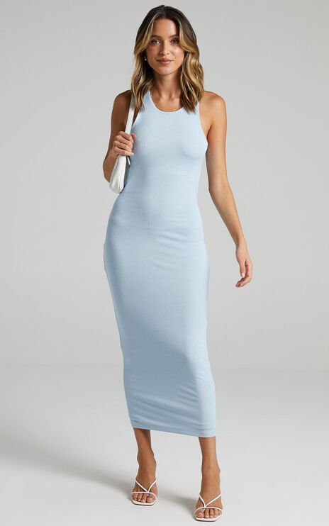 Lioness - The Clare Dress in Blue