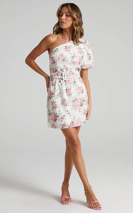Jacqui Dress in White Floral