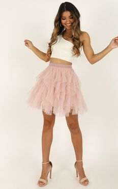 Take One Flight Skirt In Blush