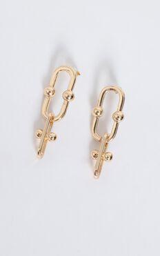Love Stories Hoop Earrings In Gold