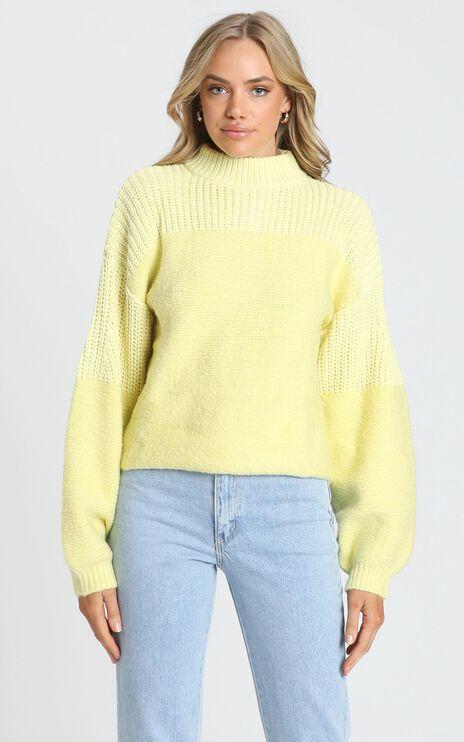 Dakota Knit Jumper in Yellow