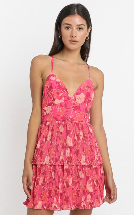 Somethings On My Mind Dress in Berry Floral