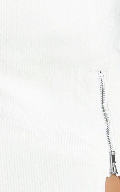 Leslie Corduroy Skirt in white - 12 (L), White, hi-res image number null