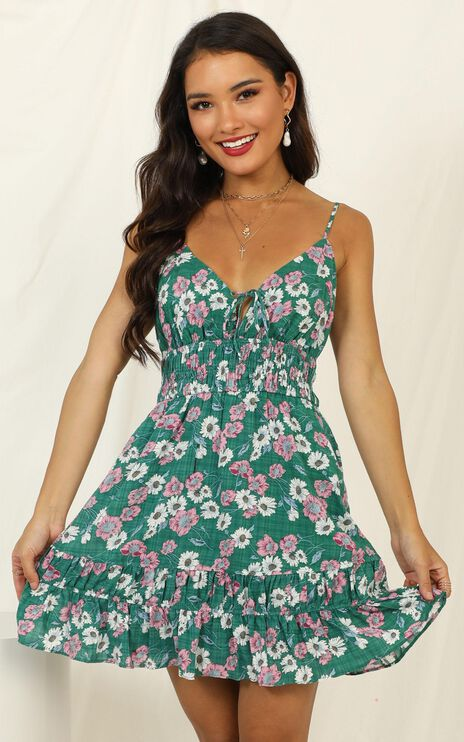 The Best Version Dress In Green Floral