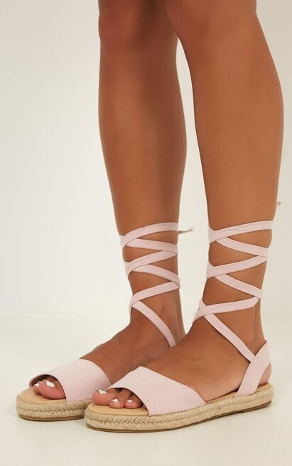 Therapy - Dauphin espadrilles in blush micro - 10, Blush, hi-res image number null