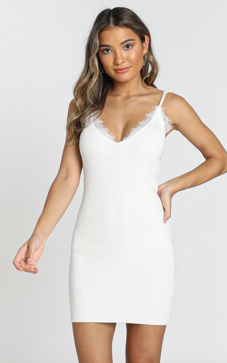 Plymouth Dress in white