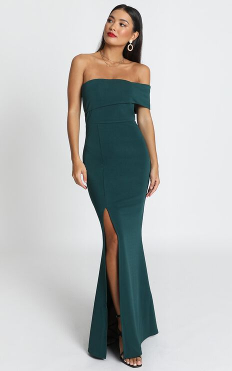 Glamour Girl Maxi Dress In Emerald