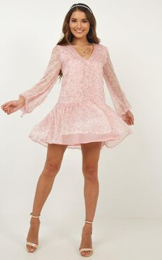 What If Dress In Blush Floral