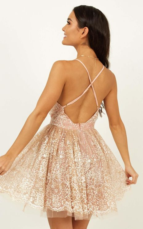 Drop Of Magic Dress In Rose Gold