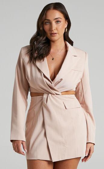 Amina Blazer Dress in Blush