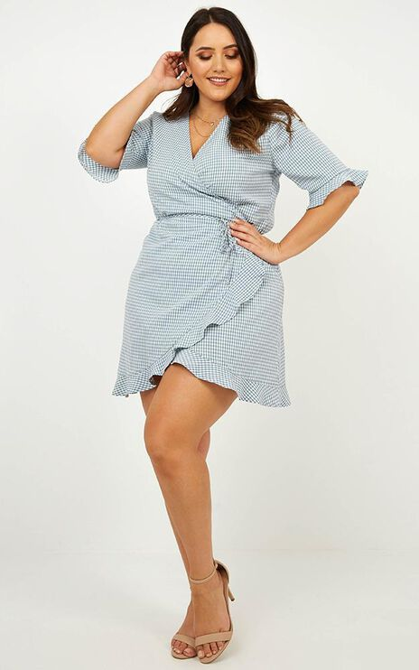 Easy Breezy Dress In Blue Gingham