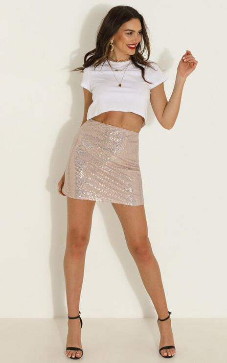 Its Up To You Skirt In Multi Sequin
