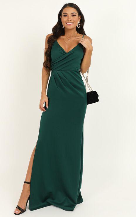 Linking Love Maxi Dress In Emerald