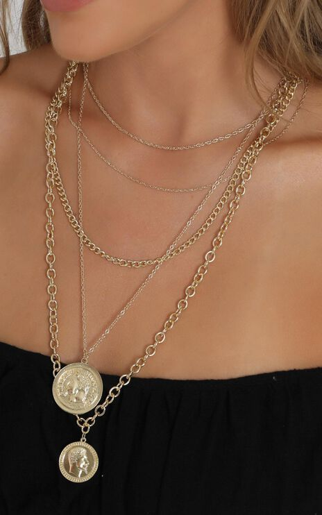 Constance Layered Necklace in Gold