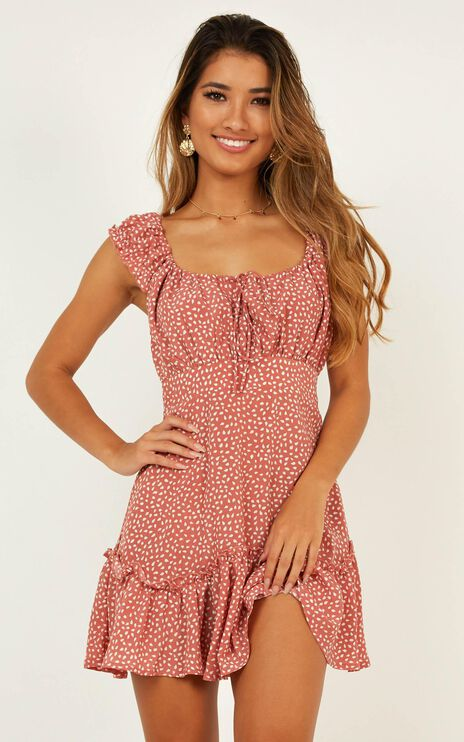 Raleigh Dress In Dusty Rose Print