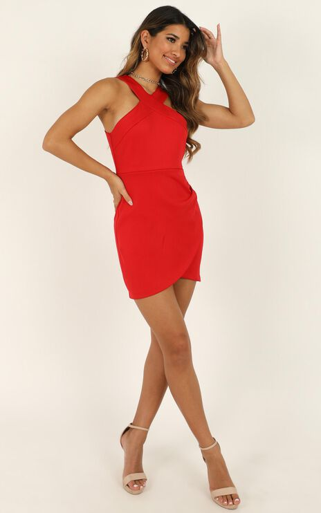 Beauty And A Beat Dress In Red