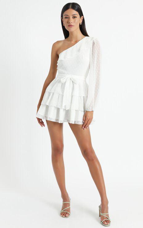 Day Dreamer One Shoulder Mini Dress in White