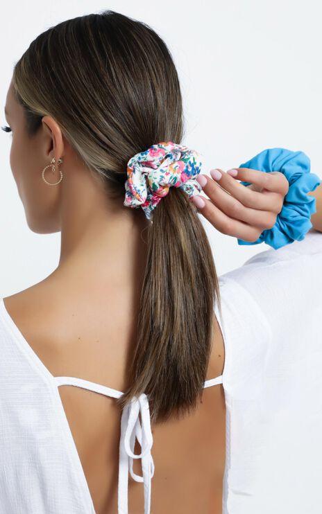 Vivid Floral Scrunchie 2 Pack