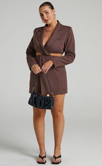 Amina Blazer Dress in Chocolate