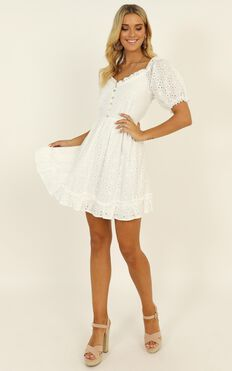 Arizona Heat Dress In White