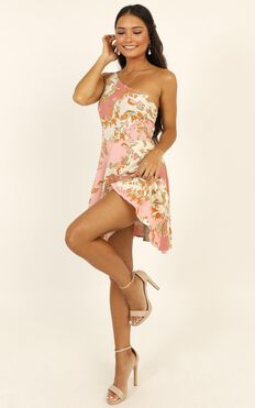 Two Is Better Than One Dress In Pink Floral