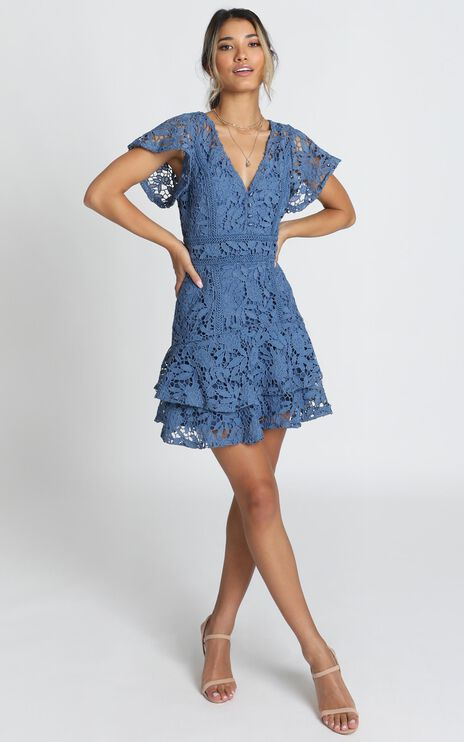 New Edition Dress In Navy Lace