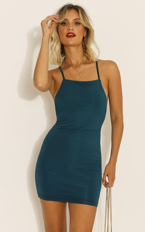 Its Alright Dress In Teal