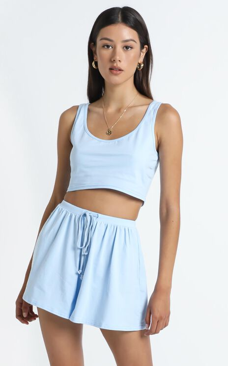 Liora Two Piece Set in Blue