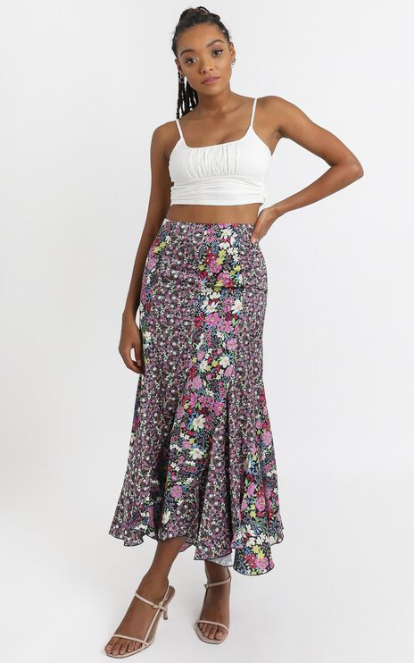 A Fool For You Skirt in Forest Floral