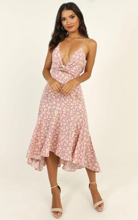 Casey Midi Dress in Lilac Floral