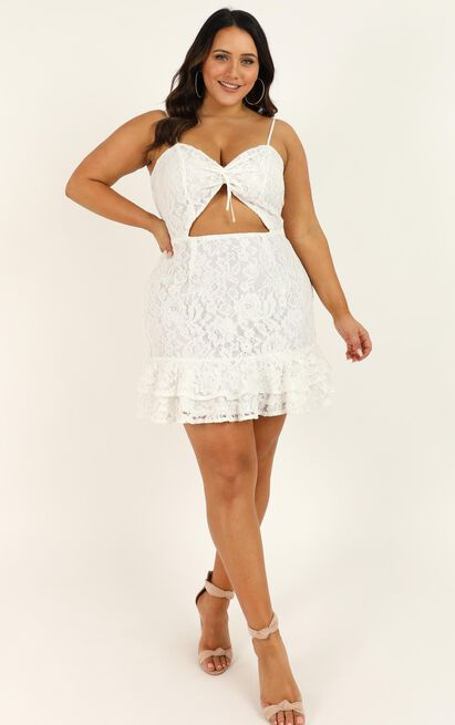 Lace Around Me Dress in white lace - 20 (XXXXL), White, hi-res image number null