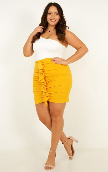 Extra volume skirt in marigold - 20 (XXXXL), Yellow, hi-res image number null