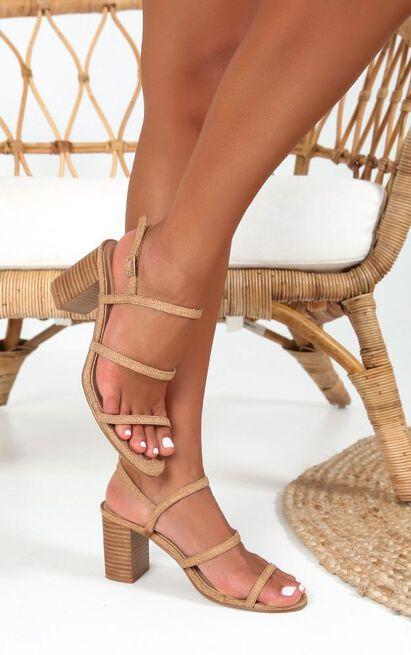 Showpo x Billini - Fifer heels in TanCanvas - 10, Tan, hi-res image number null