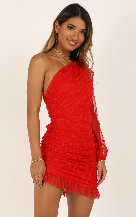 Its A Game Dress In Red Lace