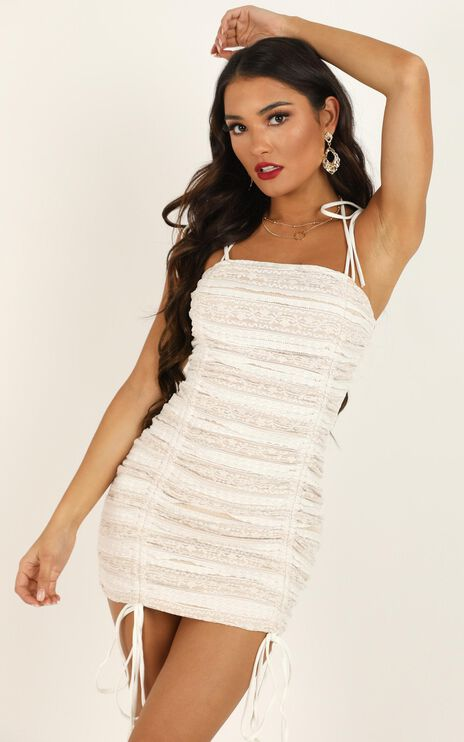 Shallow Heart Dress In White Lace