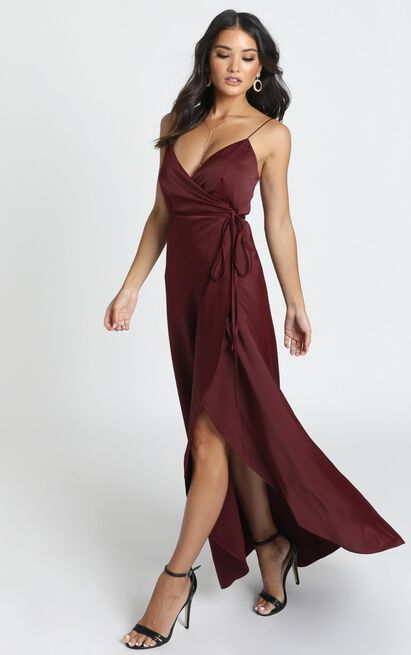 Mine Would Be You Dress in wine - 20 (XXXXL), Wine, hi-res image number null