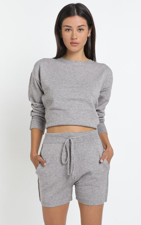 Arcadia Knit Top in Grey