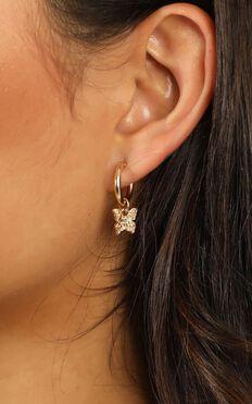 Fly Away Earrings In Gold