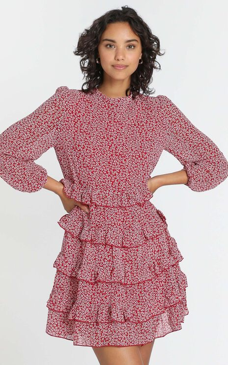 Jonas Dress in Red Floral