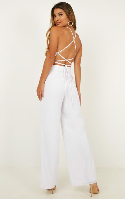 Dream Of Jumpsuit In White - 4 (XXS), White, hi-res image number null