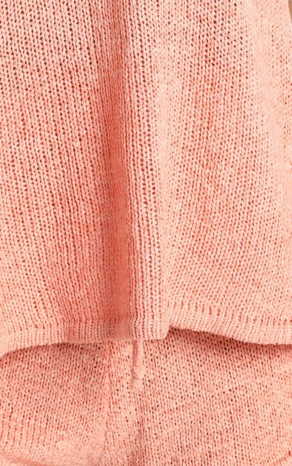 Peach Knit Two Piece Set in peach - XS/S, Pink, hi-res image number null