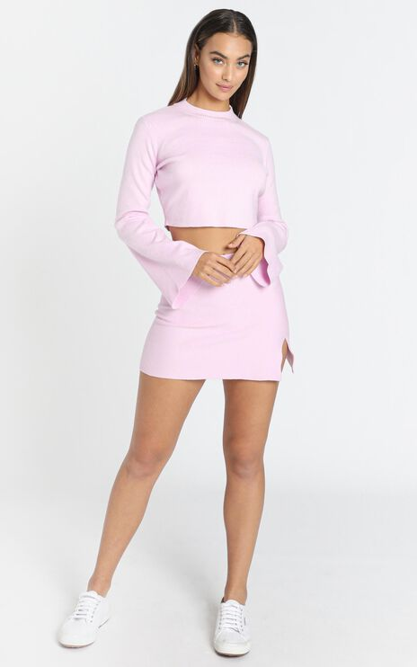 Kiley Knit Skirt in Pink