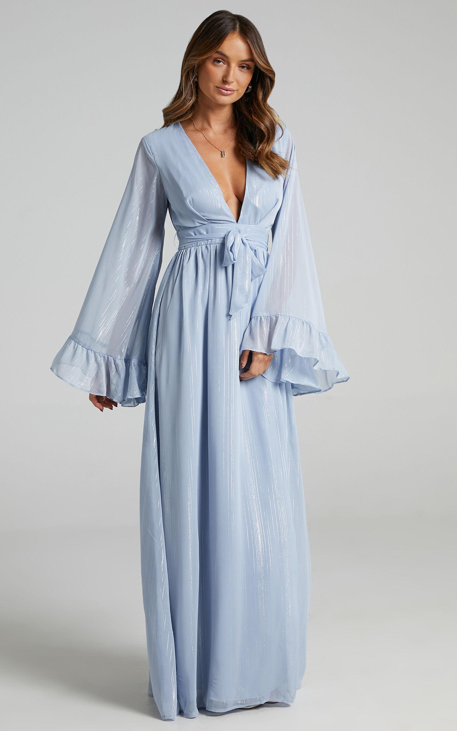 Dangerous Woman Maxi Dress in Light Blue - 06, BLU2, super-hi-res image number null