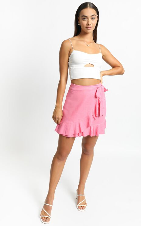 Over and Under Skirt in Pink