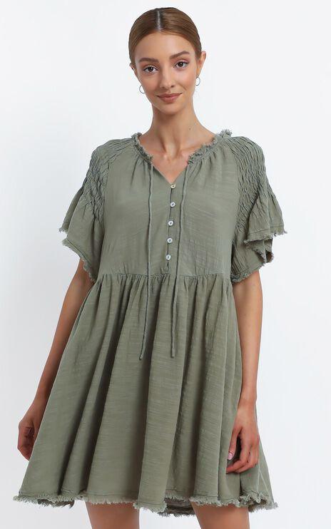Lia Dress in Khaki