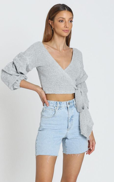 Good Decisions Knit Top in Grey