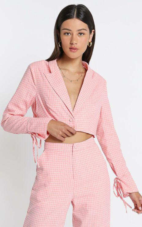 Maude  Blazer in Pink Check