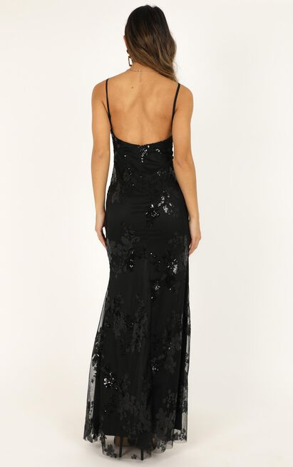 Long Line Of Love Dress in black sequin - 20 (XXXXL), Black, hi-res image number null